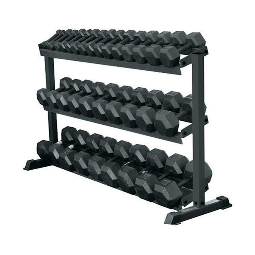 York Barbell 69127 Pro Hex 3-Tier Dumbbell Storage Rack