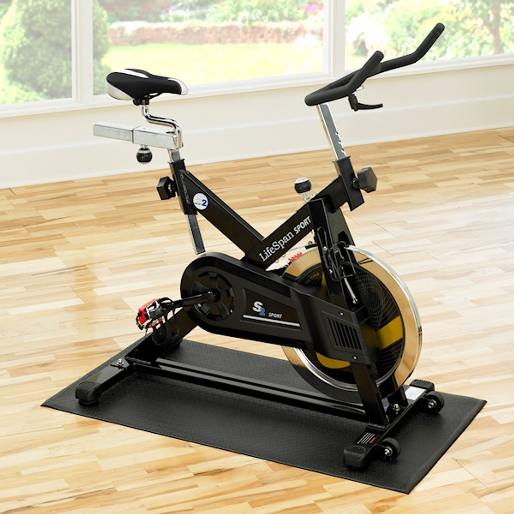 SuperMats Home Spin Bike Floor Mat