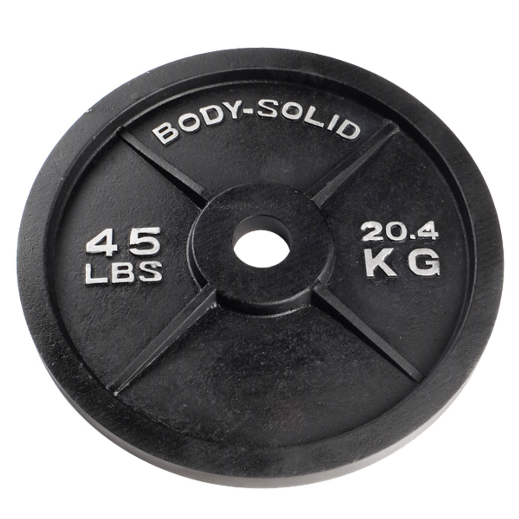 45 lb. Body Solid Cast Iron Olympic Weight Plate