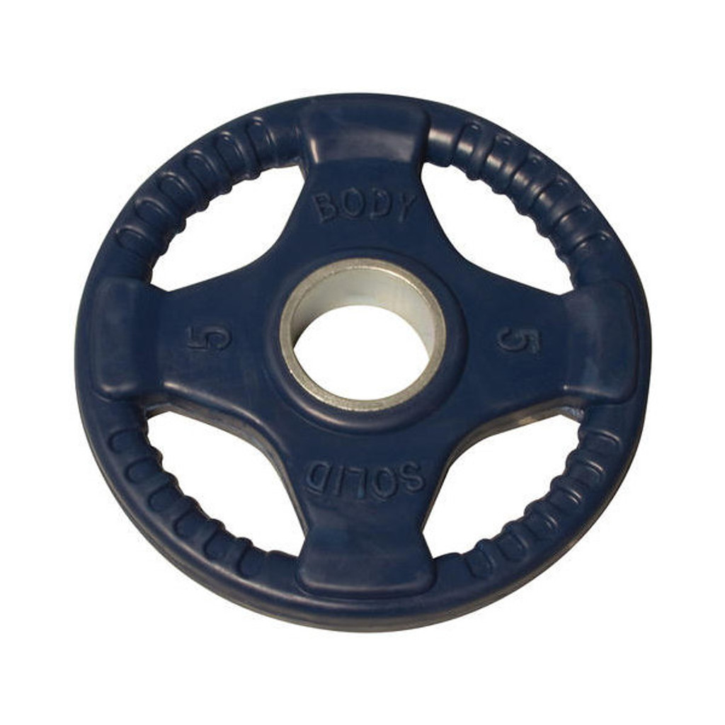 5 lb. Body Solid Quad-Grip Weight Plate