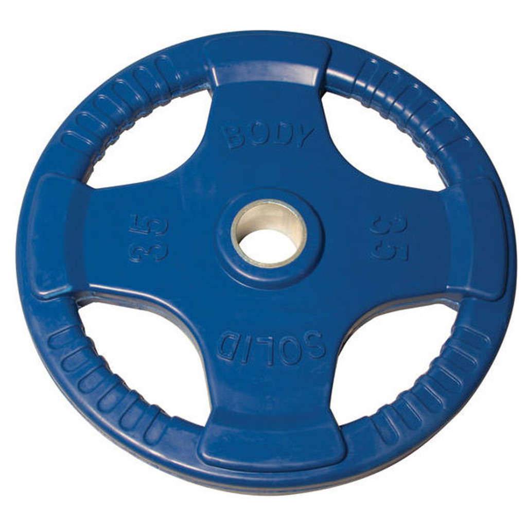 35 lb. Body Solid Colored Rubber Encased Olympic Plate