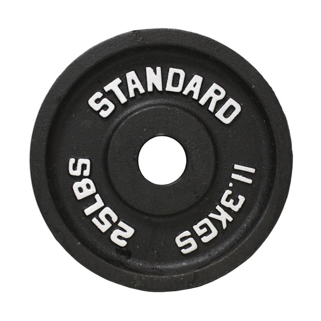 25 lb. Troy USA Sports Black Olympic Weight Plate