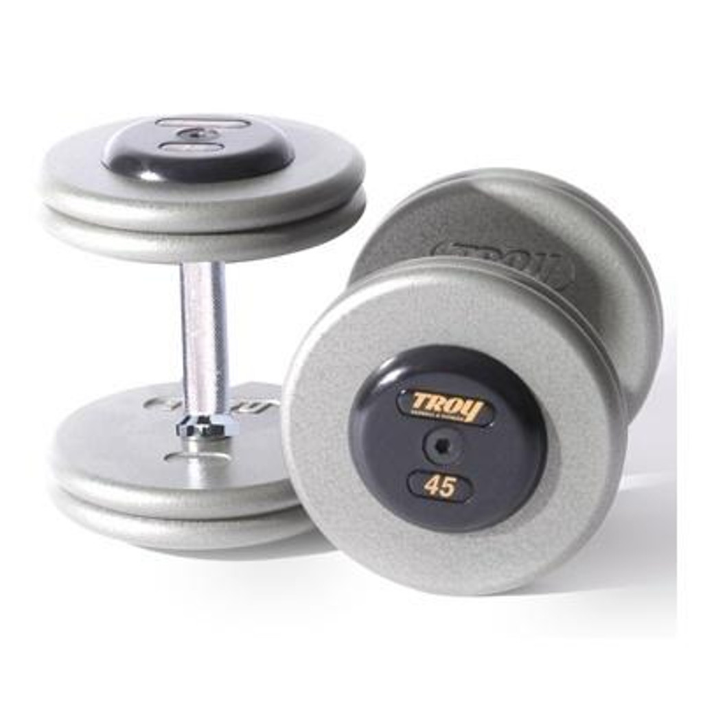 Troy Commercial Dumbbells with Black End Caps