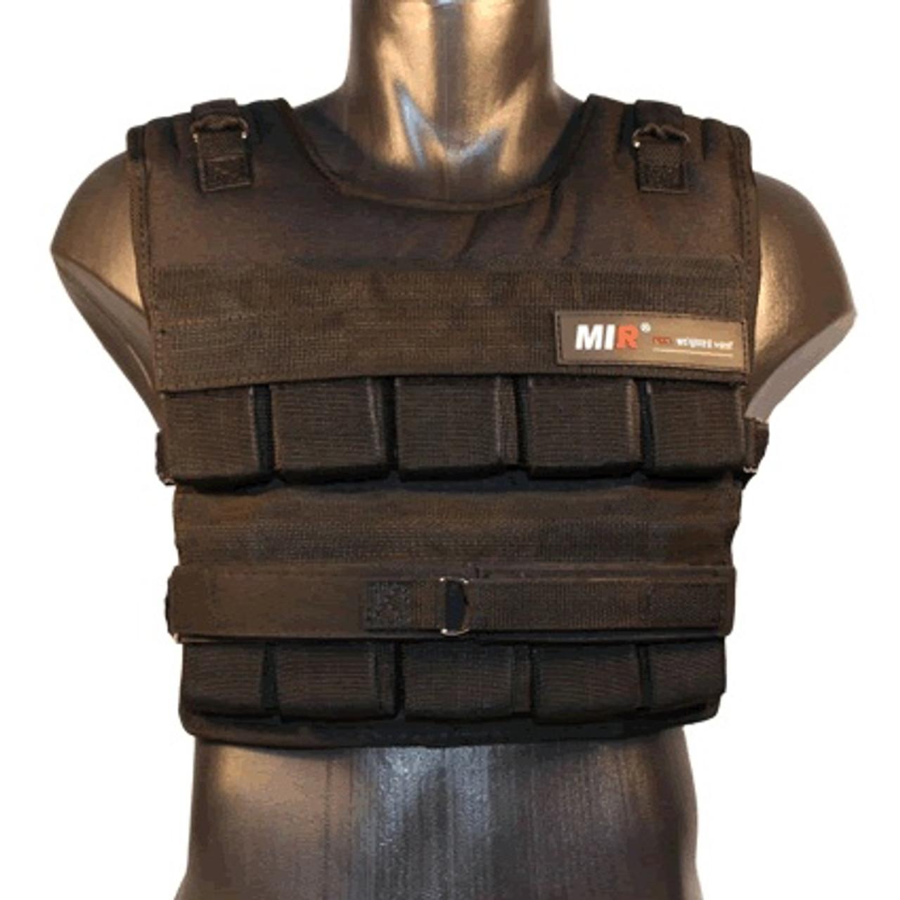 Standard, 50lbs Mir Short Weighted Vest Speed Release Option