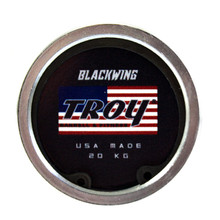 Troy Barbell Company Blackwing Power Bar End View