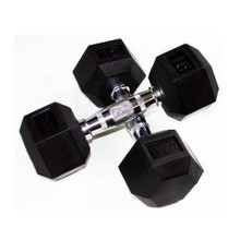 USA Sports Rubber Hex Dumbbells