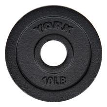 York 10 lb Cast Iron Barbell Standard Plate