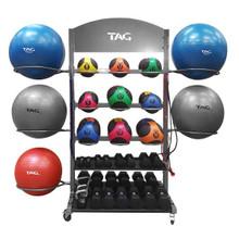 TAG Fitness Ball Rack w/ Wheels