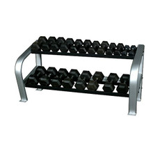 Inflight Fitness Commercial 2-Tier Dumbbell Weight Rack