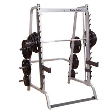 Body Solid Counterbalanced Smith Press Machine/Half Rack Combo