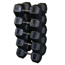 Body Solid Rubberized Dumbbell Set