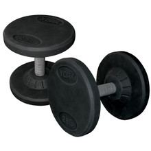 York Barbell Rubber Encased Pro Dumbbells