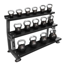 TAG Fitness 5-80 lb. Commercial Kettlebell Weights and Rack