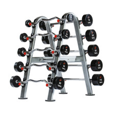 TAG Fixed Urethane Barbell Set w/ Rack