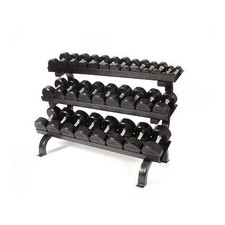 Troy (#TSD-R) 5-75 lb Rubber Dumbbells & Rack