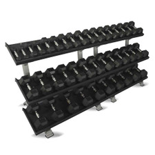 Inflight (5-100 lb) Rubber Dumbbells w/ Racks