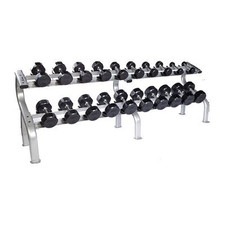 Troy (#TSD-R) Rubber Dumbbells & Rack