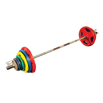 Body Solid Colored Rubber Olympic Weight Set
