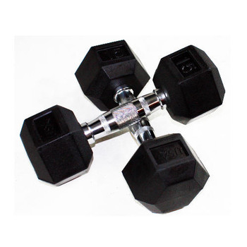 Troy USA Sports Rubber Hex Dumbbells