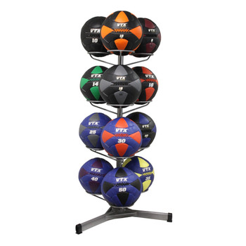 Troy VTX (8-50 lb) Wall Ball Set with Rack