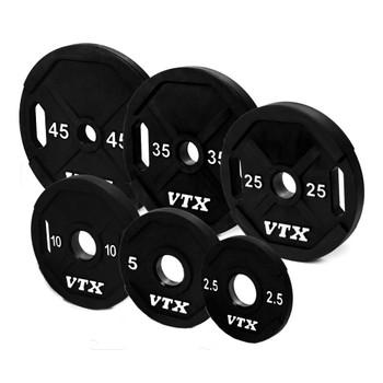 VTX Urethane Coated Olympic Grip Plates