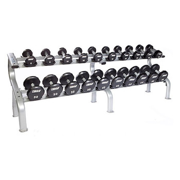 Troy Urethane Dumbbell Set and Rack
