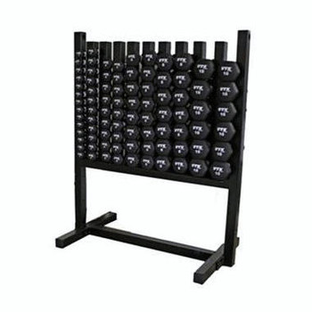 Troy Neoprene Dumbbell Set with Rack