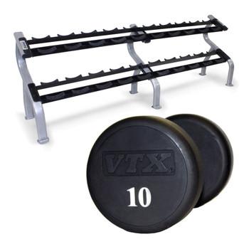 Troy VTX (#XD-U) Urethane Dumbbells & Rack
