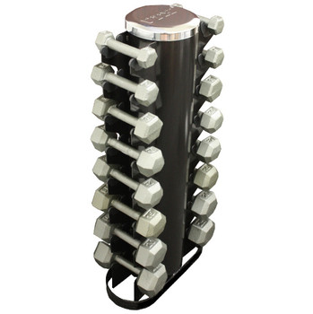 Troy (3-25 lb) Iron Hex Dumbbells w/ Rack