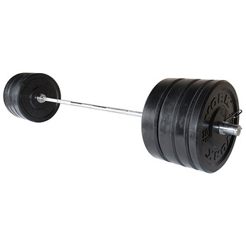 York (275 lb) Rubber Bumper Plate Set with Bar