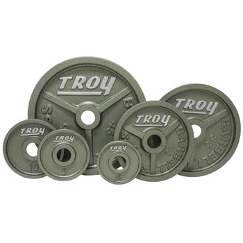 Troy (#HO) Gray Iron Machined Olympic Plates