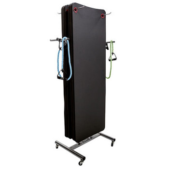 TAG Hanging Exercise Mat Rack w/ Wheels