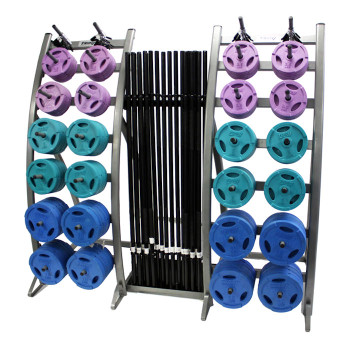 Troy Colored Group Barbell Strength Set