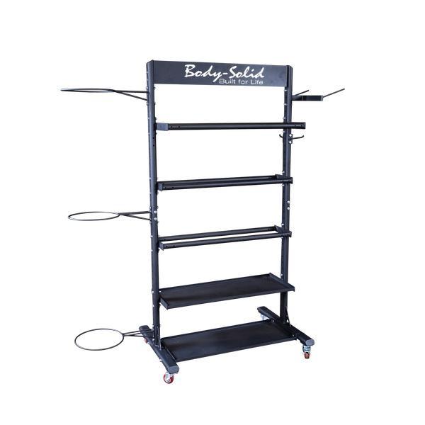 Body-Solid (#GAR250) Mobile Accessory Rack