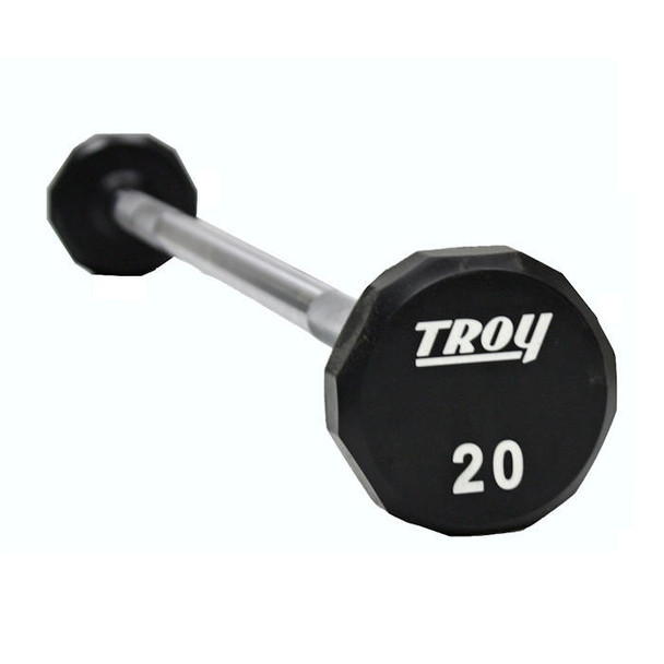 Troy (20-110 lb) Fixed Urethane Barbell Set