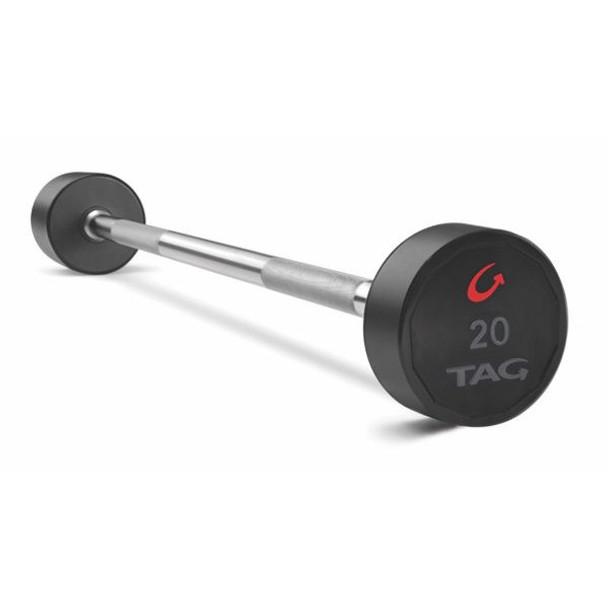 TAG (20-110 lb) Fixed Urethane Barbell Set