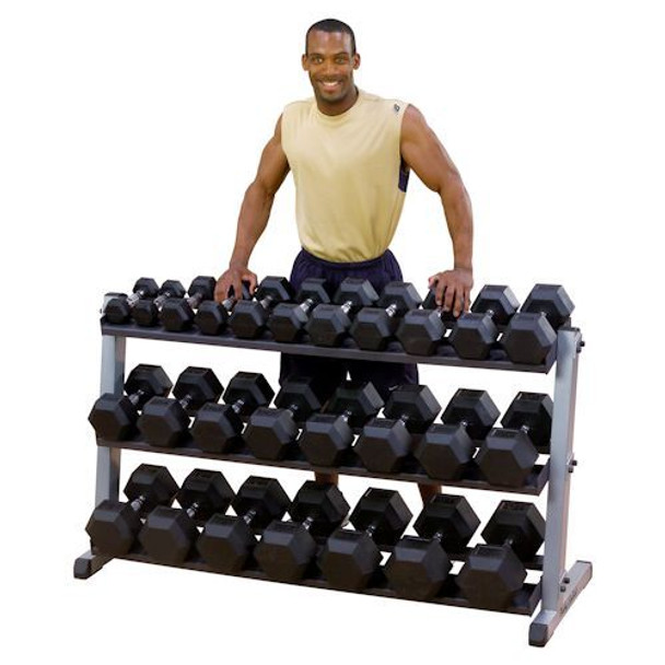 Body Solid 3-Tier Hex Dumbbell Rack