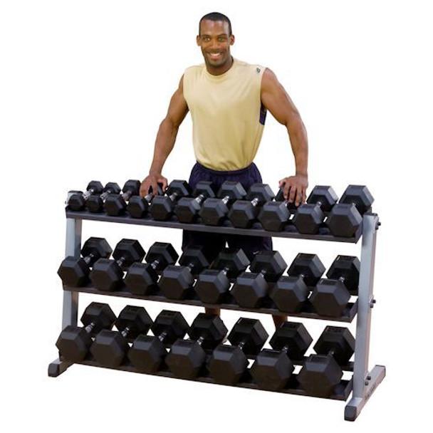 Body Solid 3-Tier Hex Dumbbell Rack