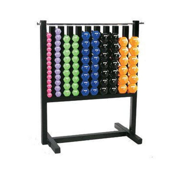 Troy VTX Vinyl Coated Dumbbell Set w/ Rack