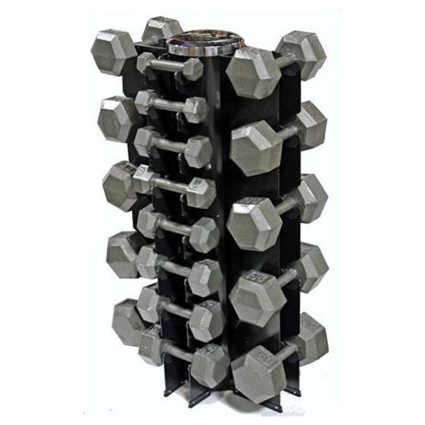 Troy VTX (3-50 lb) Iron Hex Dumbbells & Rack