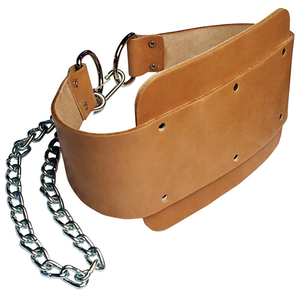 Body Solid (#MA330) Leather Dip Belt w/ Chain