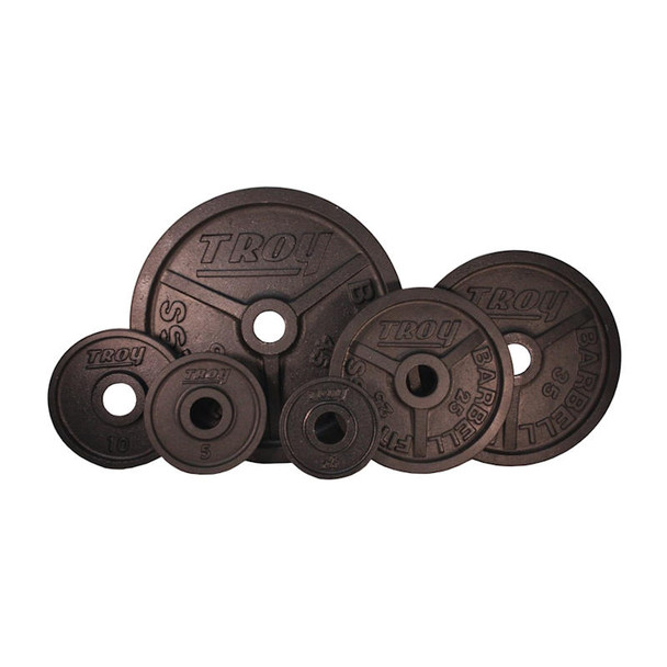 Troy (#PO) Black Wide Flange Olympic Plates