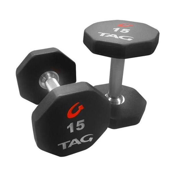 TAG Fitness 8-Sided Urethane Dumbbells