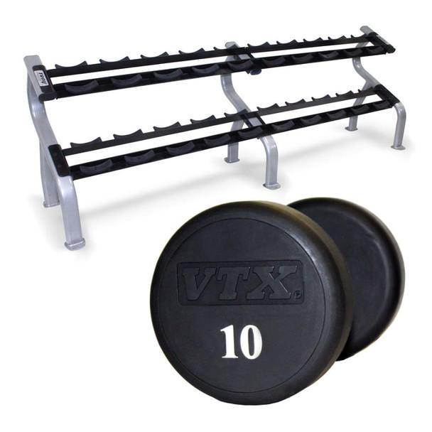 Troy VTX (XD-U) Urethane Dumbbells & Rack