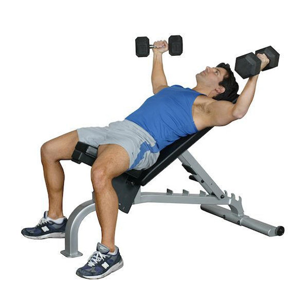 Inflight Fitness Adjustable Weight Lifting Bench