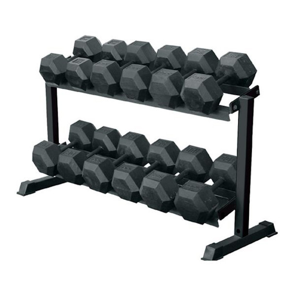 York Barbell 69126 2-Tier Hex Weight Rack
