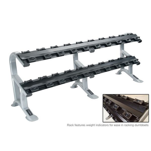 York ETS 2-Tier Dumbbell Rack w/ Saddles