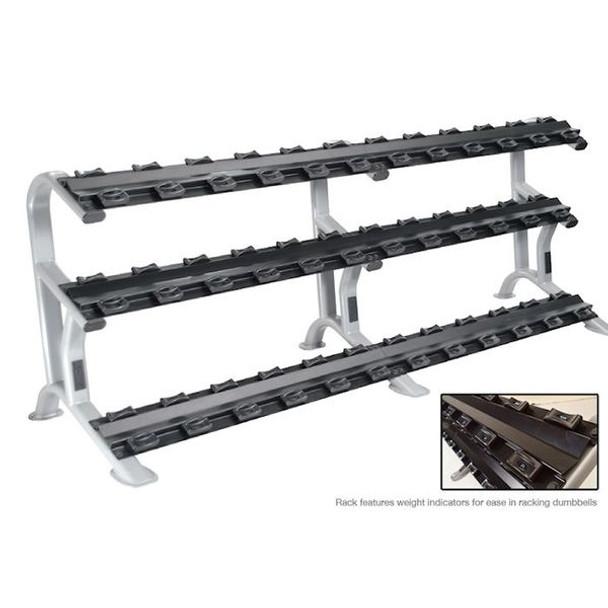 York (ETS) Commercial 3-Tier Dumbbell Rack