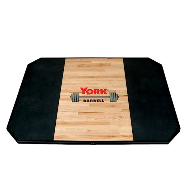 York Solid Oak Weightlifting Platform