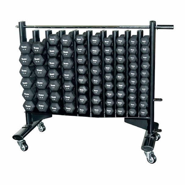 "York ""Fitbells"" Neoprene Dumbbells w/ Rack"